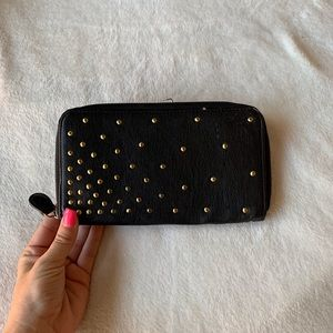 Black Studded Clutch/Wallet